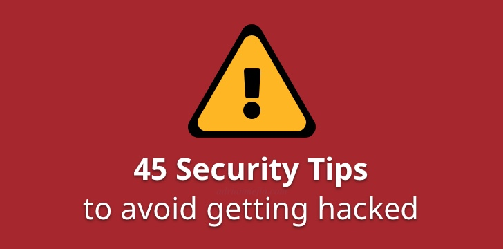 45 Security Tips to Avoid Hacking | Adrian Mejia Blog
