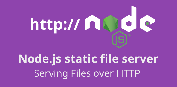Building a Node js static file server (files over HTTP) using ES6+